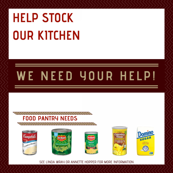 HELP STOCK OUR KITCHEN